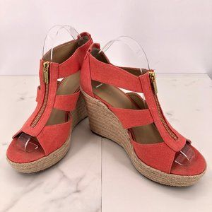 Michael Kors salmon strappy espadrille sandal